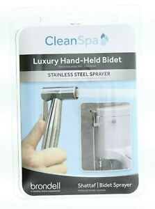 Brondell CleanSpa Bidet Shattaf Sprayer Luxury Hand Held, Silver CSL-40