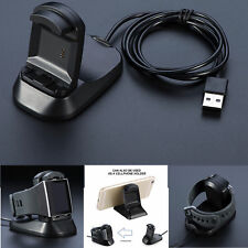 New 2 in1 USB Charger Charging Cradle Stand Holder for Fitbit Ionic Smart Watch