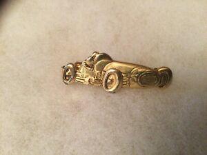 Vintage Gold Tone Racecar Tie Clip by Anson