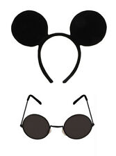 3 Blind Mice Set (Black Glasses & Mouse Ears on Headband) Fancy Dress Outfit