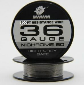 Nichrome 80 - 36 Gauge 500FT Resistance Wire High Purity - Ni80 Wire