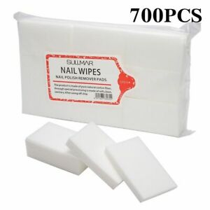 100/700 Pcs Lint-Free Wipes Napkins Nail Polish Remover Gel Nail Wipes Nail Pads