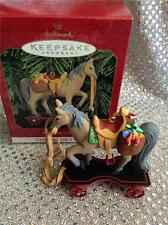 1999 HALLMARK ORNAMENT A PONY FOR CHRISTMAS #2 IN SERIES WITH SADDLEBAGS OF TOYS