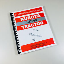 KUBOTA B7200D 4WD TRACTOR PARTS ASSEMBLY MANUAL CATALOG EXPLODED VIEWS NUMBERS