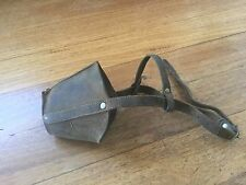 Vintage Collectable Sporting Memorabilia Leather Dog Greyhound Muzzle