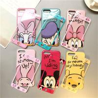 Set Cartoon Disney Minnie Case fr iPhone Xs Max X 8 7 360 Full Cover +Glass Film