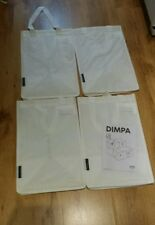 IKEA DIMPA Set x4 White Storage Bag Laundry Recycle Shopping Garden tall bundle