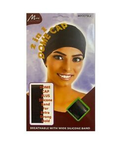 Murry Collection 2 IN 1 Spandex Dome Cap SILICONE BAND X-LARGE BREATHABLE MY007B