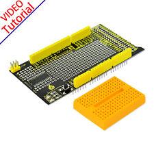 MEW! MEGA Protoshield Prototype Prototyping Shield for Arduino+Breadboard