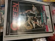 Queen Gary Moore June 7 1986 Stockholm Poster Vg Rare Edge Tear Vtg Htf!