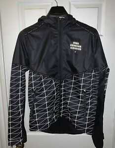Nike Flash Run Division Running Jacket Mens Size Small CU7868 010 Black/Grey