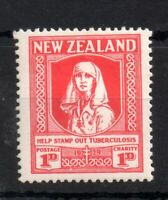 New Zealand 1929 TB Nurse mint MH #545 WS14033