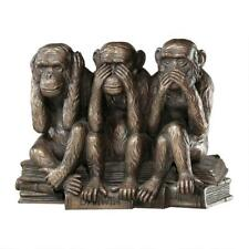 Design Toscano The Hear-No, See-No, Speak-No Evil Monkeys Finished In Bronze