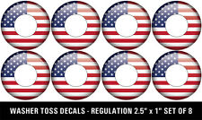 American Flag Washer Toss Washers Pitching Decals - Set of 8 with FREE Shipping!
