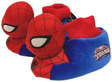 Childrens Spiderman 3D Plush Slippers Kids Official Marvel Non Slip Grip SM11581