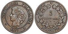 5 CENTIMES CERES 1877 A  F.118 TTB!!!