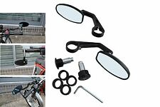 Quality BLACK CNC Machined Bar End Mirrors for Yamaha Cafe Racer Project PAIR