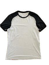 Men's Lululemon Metal Vent Tech T-Shirt Size L Striped White Black
