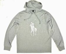 Polo Ralph Lauren Men's Sz S Performance Big Pony Hooded T-Shirt Gray/Silver