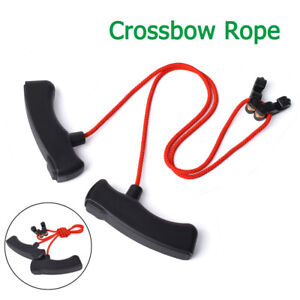 1XRed Archery Crossbow Cocking Device & Rope Double T Handle String Tool
