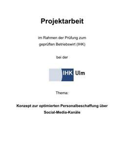 Projektarbeit Betriebswirt IHK Personal
