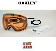 OAKLEY® FLIGHT DECK™ SNOW BOARD SKI GOGGLES MATTE WHITE W/ PERSIMMON LENS NEW