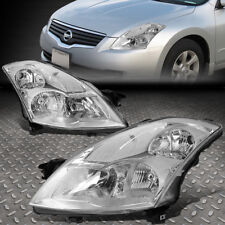 FOR 07-09 NISSAN ALTIMA SEDAN PAIR CHROME HOUSING CLEAR CORNER HEADLIGHTS/LAMPS