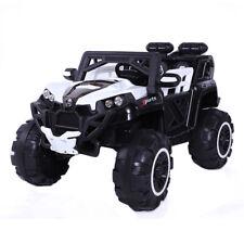 Elektroauto Kinderfahrzeug Motoren 2x 40W 2 sitzer SUV Kinderauto LED Weiß