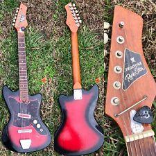 Vtg 1960s Western Auto Truetone Rock Star Bobkat Japan Electric Guitar Harmony