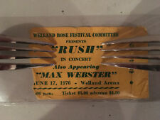 Rush Concert Ticket Stub June 17, 1976 Welland ON Canada - Extremely Rare