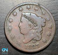 1827 Coronet Head Large Cent   --  MAKE US AN OFFER!  #K4147
