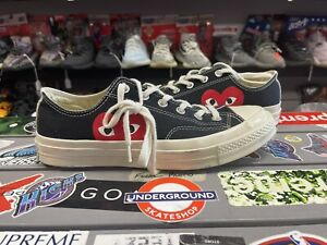 comverse cdg low size 8 vintage vtg authentic rare black chuck taylor used