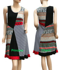 Knee Length Viscose Casual Dresses Stripes