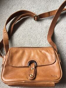Bolla Tan/ Brown Vintage leather Cross Body bag