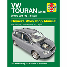 VW Touran Diesel 1.6 1.9 2.0 Diesel 2003-2015 Haynes Workshop Manual