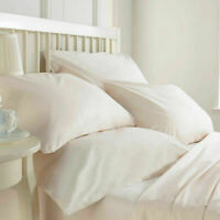 1000 TC IVORY COLOR SOLID 100%EGYPTIAN COTTON UK-BEDDING SET IN ALL UK SIZES