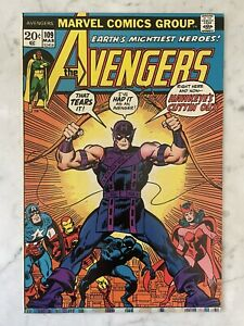 AVENGERS #109-HAWKEYE QUITS AVENGERS-ICONIC COVER-SCARLET WITCH-VISION NM 9.4