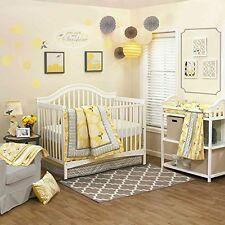 NEW Stella Peanutshell 4 piece Crib Set Yellow and Gray Floral