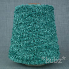 GORGEOUS 4 PLY GLITTER YARN TURQUOISE 500g CONE 10 BALL KNITTING SPARKLE FEATHER