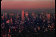 148003 New York Skyline At Sunset Looking Uptown A4 Photo Print