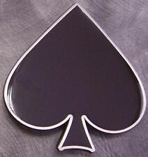 Pewter Belt Buckle Gamble Poker Ace of Spades NEW black
