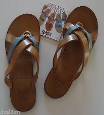 NIB Enrico Fantini Leather Sandals Flip Flops Italy Size 37(IT) 7(US)