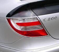 Mercedes Classe C W203 CL203 Coupé Chrome Feu Arrière Garniture x 2