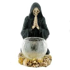 Reaper's Prayer Candle Holder, fantasy skeleton ornament by Nemesis Now U0053A3