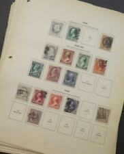 EDW1949SELL : USA Very nice Used collection on old time pages between 1851-1944.