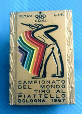 #0298# JOLI INSIGNE CAMPEOANTO DEL MONDO TIRO AL PIATTELLO BOLOGNA 1967
