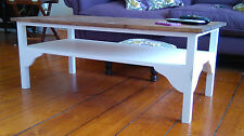 H45cm W100cm D50cm BESPOKE COFFEE OCCASIONAL TABLE WHITE DARK OAK WAXED TOP