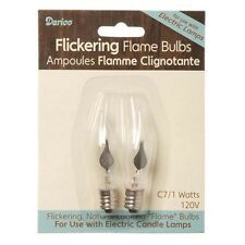 Candle Bulb-Flame Tip Flickering 2 pk Glass Flame Look Replacement Bulbs