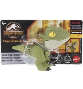 Mattel Jurassic World Camp Cretaceous Snap Squad Velociraptor Dinosaur Figure