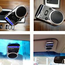 For Mobile phone Cellphone LED Speaker Solar Powered Bluetooth Handsfree Car Kit